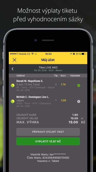 fortuna Mobilní aplikace