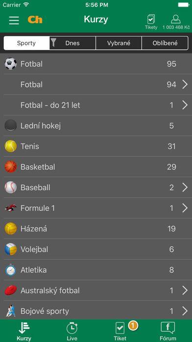 Chance smartfónu app