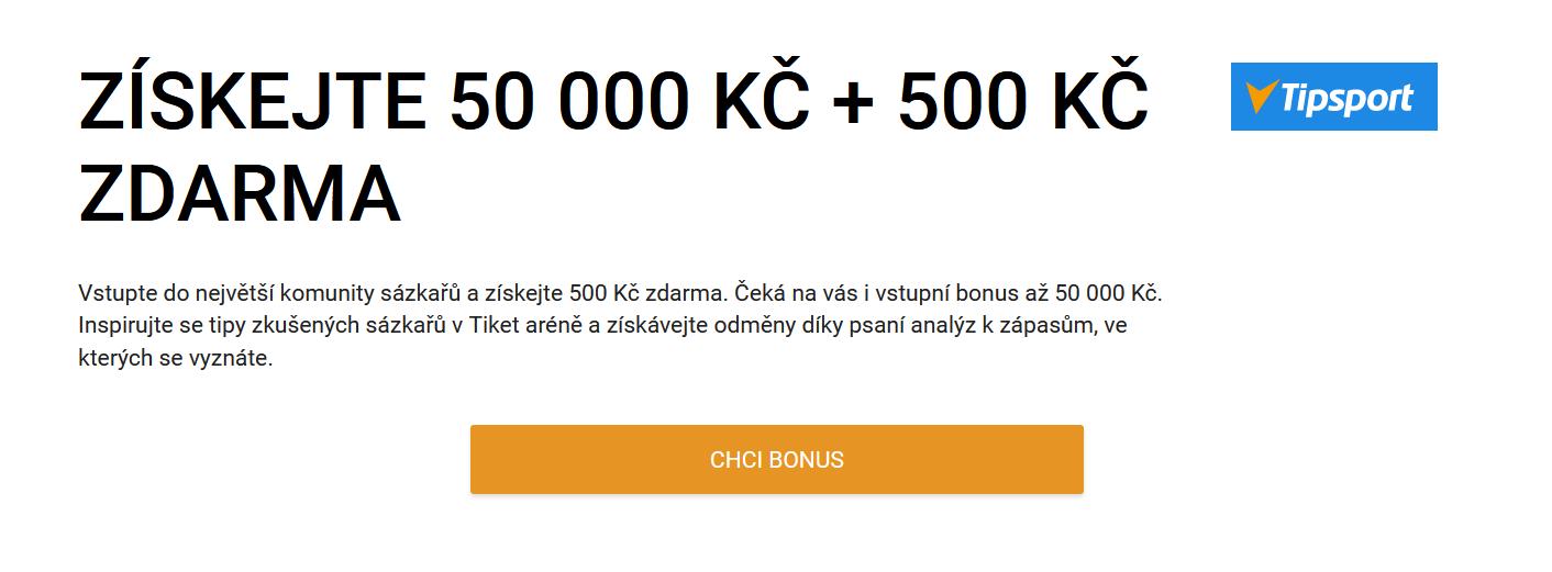 Akční kód Tipsport bonus