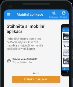 Tipsport mobilní aplikace - krok 1